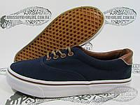 Кеды женские под Vans синий с коричневым
