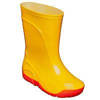 РезиНовые сапоги VIVID детские Желтые [на красной подошве] OLDCOM
