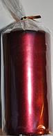 Свеча бордовая 60х130мм декоративная цилиндр 1шт