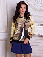 Женская толстовка Слон. Размер 42 - 50