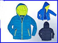 Демисезонная стеганная куртка для мальчика 110-140