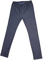 Брюки-лосины для девочки, темно-синие джинсовые, стрейч, рост 116 см, ТМ Ля-ля