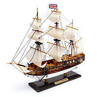 Модель копия парусного корабля Royal Caroline 30 см С03S3