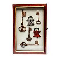 """Ключница в прихожую """"Набор антикварных ключей и замков"""" АS18630"""