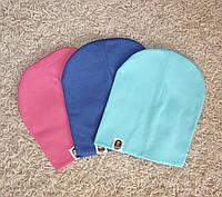 Осенние детские шапочки оптом в наличии, на девочку