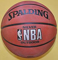 Мяч баскетбольний №5 Spalding 63-583Z NBA Silver Outdoor SZ 5