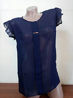 Блуза женская Шифон темно-синий цвет