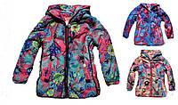 Куртка утепленная для девочки с цветочным принтом