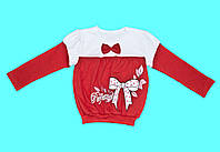 """Детская блузка для девочки с длинным рукавом """"Бантик"""""""