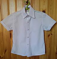 Рубашка белая с коротким рукавом для мальчика