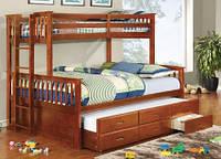 """Двухъярусная кровать с выдвижным спальным местом """"Маркиз"""""""