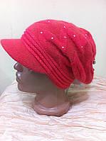 Двойная демисезонная женская кепка из  ангоры