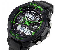S-Shok SKMEI 0931, мужские спортивные часы, цифровые + аналоговые, будильник, секундомер, водонепроницаемые