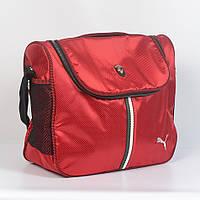 Спортивная молодёжная сумка через плече Puma - Код 19-10 - (красная)