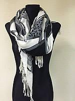 Черно-белый шарф
