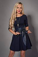 Женское платье из стрейчевой итальянской костюмной ткани