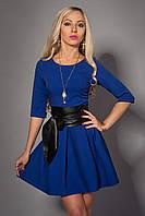 Молодежное платье синего цвета