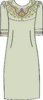 Платье женское, льняное