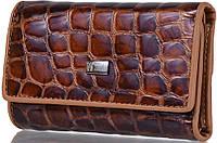 Кожаная ключница-кошелек с зеркалом WANLIMA (ВАНЛИМА) W81092670792-light-coffee