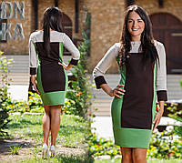 Д1003 Платье   трехцветное