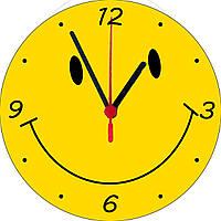 "настенные часы на стекле ""Смайл"" круглые"