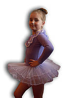 Купальник - пачка для гимнастики и танцев. Сирень. Rivage Line 0184LB