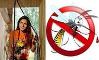 Москитная сетка на  магнитах Magic Mesh, Killer скажи стоп насекомым