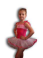 Купальник - пачка для гимнастики и танцев. Малиновый. Rivage Line 0215В