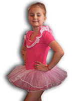 Купальник - пачка для гимнастики и танцев. Розовый. Rivage Line 0184TB