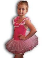 Купальник - пачка для гимнастики и танцев. Малиновый. Rivage Line 0184B