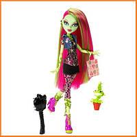 Кукла Monster High Венера МакФлайтрап (Venus Mc Flytrap) с мухоловкой базовая Монстр Хай