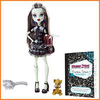 Кукла Monster High Фрэнки Штейн (Frankie Stein) с питомцем щенком базовая Монстр Хай