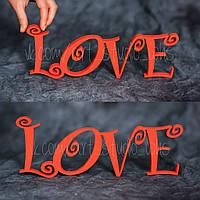 "Декоративная табличка ""LOVE"" с вензелями"