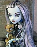 Кукла Monster High Фрэнки Штейн (Frankie Stein) с щенком базовая Монстер Хай Школа монстров
