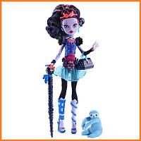 Кукла Monster High Джейн Булитл (Jane Boolittle) с ленивцем базовая Монстр Хай