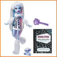Кукла Monster High Эбби Боминейбл (Abbey Bominable) с мамонтенком базовая Монстр Хай