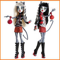 Набор кукол Monster High Пурсефона и Мяулодия (Meowlody & Purrsephone) Монстр Хай