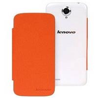 Чехол книжка для Lenovo S820, Orange