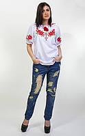 Женская вышиванка Зоряна с коротким рукавом, фото 1