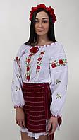Батистовая блуза с вышивкой крестиком, фото 1