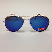 Солнцезащитные очки капли Ray Авиаторы c  синими линзами