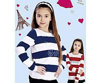 """Стильная кофта с вышивкой """"Dream girl"""" р 122,128,134,140 см цвет темно-синий,красный"""