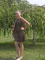 Нарядный сарафан для девочки леопардовый принт. Оригинальный подарок. Платье на выпускной бал.