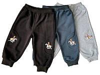 Штаны на манжетах теплые для мальчика