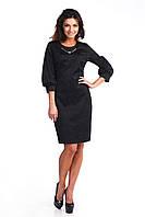 Коктейльное черное платье с украшением