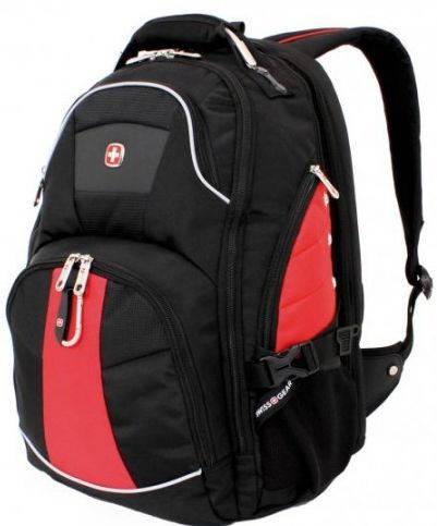 Удобный рюкзак для ноутбука до 15'' SWISS GEAR 1932201410 красный