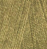 Пряжа для вязания Ангора реал 40 оливковый 214