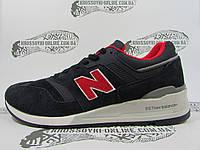 Кроссовки мужские New Balance большие размеры, тёмно-синие с красным