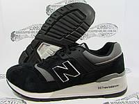Кроссовки мужские New Balance большие размеры, чёрные