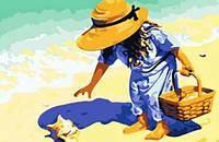 "Картины по номерам на холсте ""Ракушка на берегу моря"" 5176"